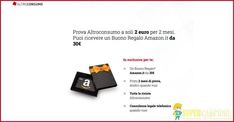 Supercampione - Con Altroconsumo puoi ricevere un buono Amazon da 30€