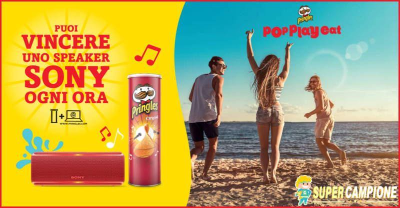 Pringles: vinci uno speaker Sony ogni ora