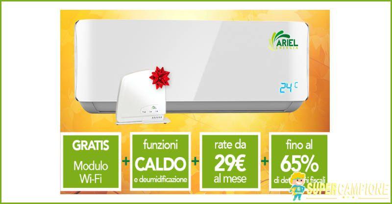 Ariel climatizzatori: offerta speciale 50% fuori tutto