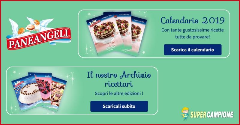 Paneangeli: gratis il calendario e i ricettari 2019