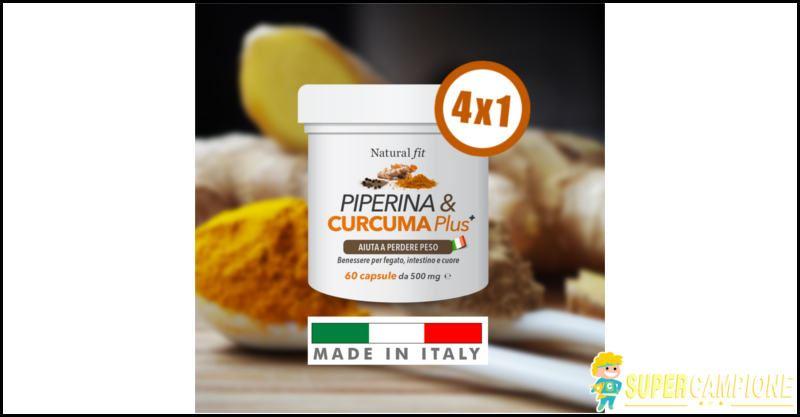 Supercampione - Offerta 4x1: Piperina e Curcuma PLUS 240 compresse