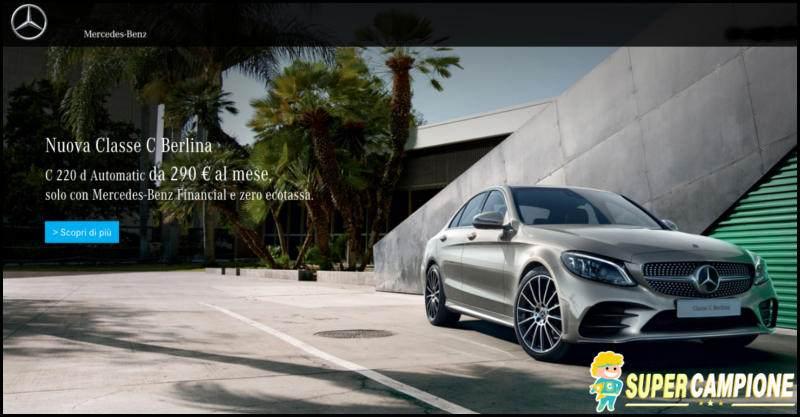 Supercampione - Mercedes: nuova Classe C Berlina da 290€ al mese