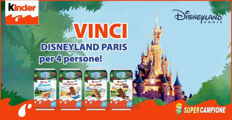 Supercampione - Vinci Disneyland Paris con Kinder!