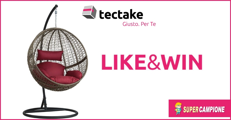 Supercampione - TecTake: vinci gratis la poltrona sospesa in polyrattan