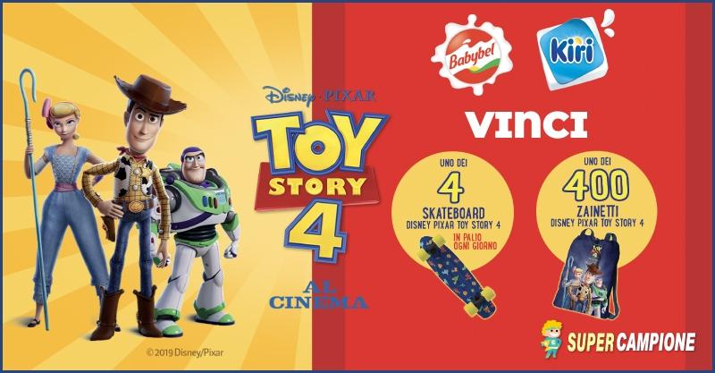 Vinci un viaggio in Florida, zaini e skateboard di ToyStory!