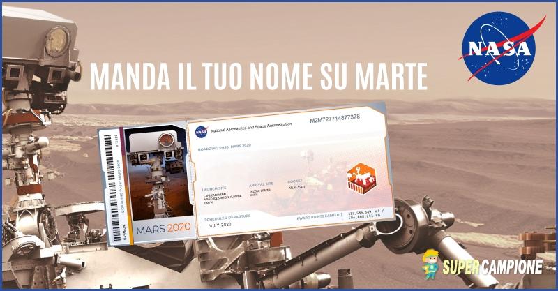 Biglietto Omaggio per Marte con Nasa