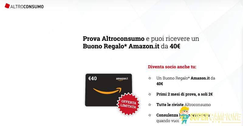Supercampione - Con Altroconsumo puoi ricevere un buono Amazon da 40€