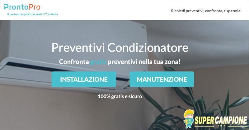 Supercampione - ProntoPro: la migliore offerta per il tuo climatizzatore