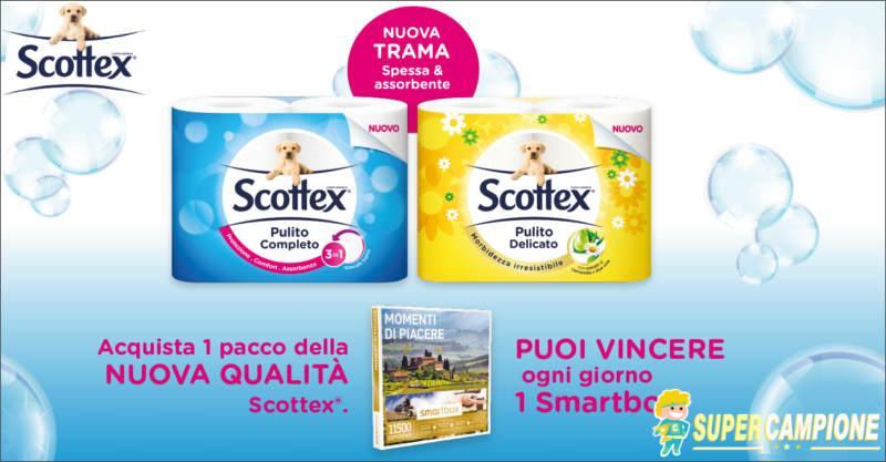 Scottex: vinci Smartbox Momenti di Piacere