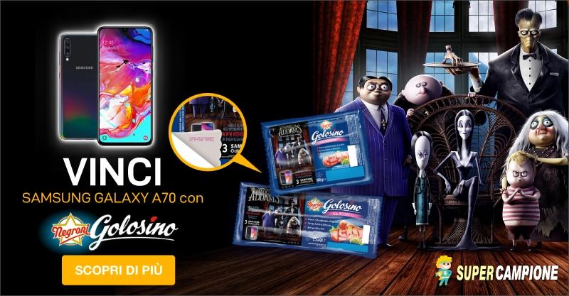 Vinci un Samsung Galaxy A70 con Golosino