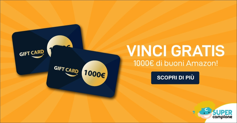 Vinci 1000€ di buoni Amazon