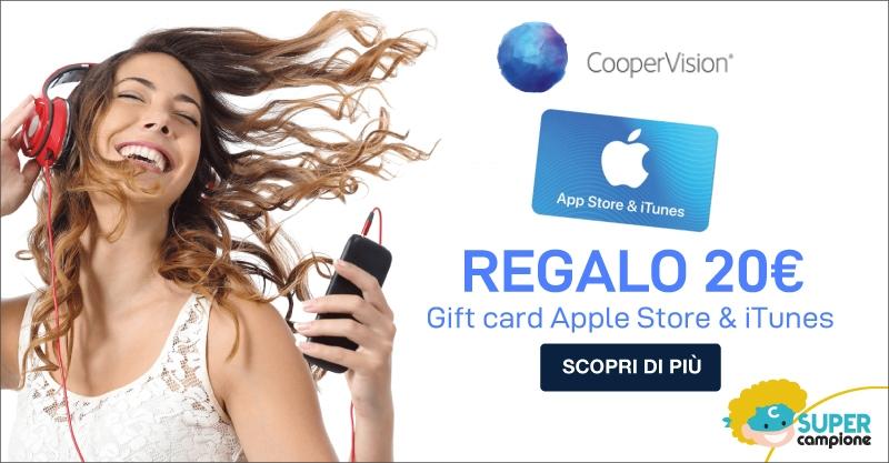 Vinci una gift card Apple Store & iTunes con CooperVision