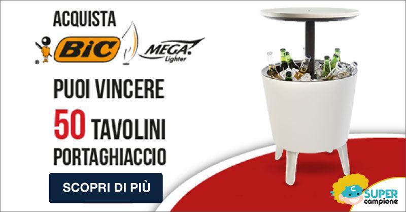 Vinci 50 tavolini portaghiaccio Keter con Bic
