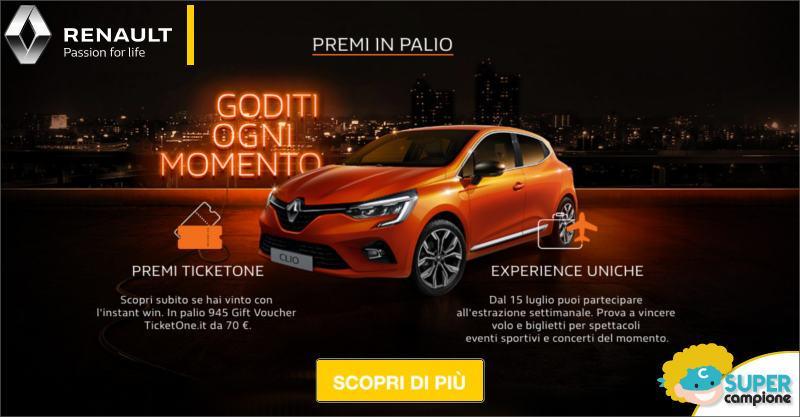 Renault: vinci gratis 945 buoni TicketOne e non solo