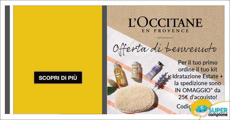 Codice sconto + omaggio L'Occitane