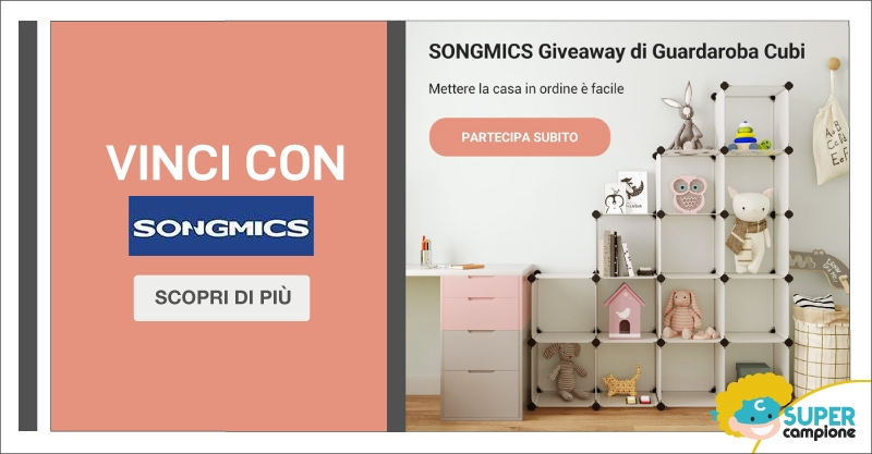 Vinci gratis il guardaroba a Cubi di Songmics