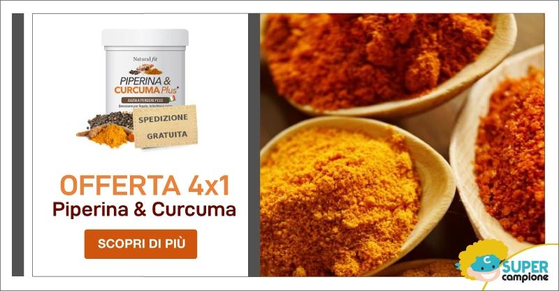 Offerta 4x1: Piperina e Curcuma PLUS 240 compresse