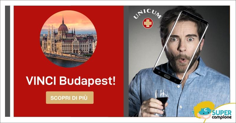 Vinci Gratis Budapest con Unicum