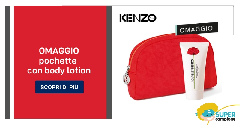 Campioni omaggio pochette Kenzo