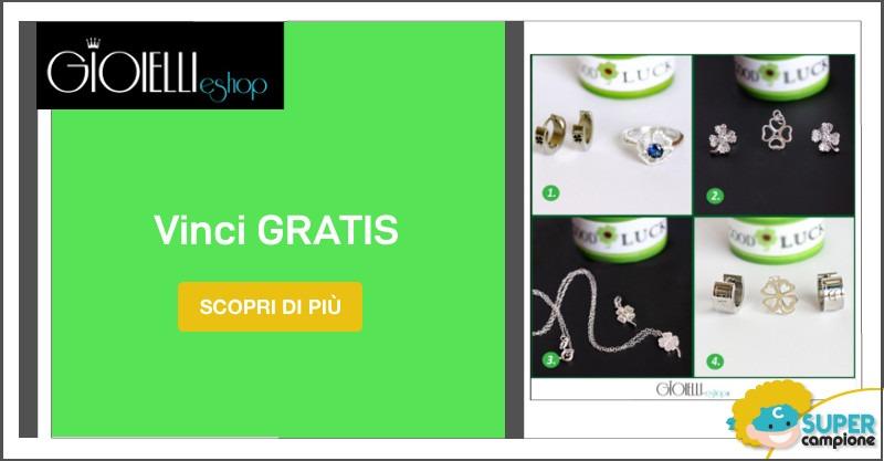 Vinci gratis i gioielli Quadrifoglio