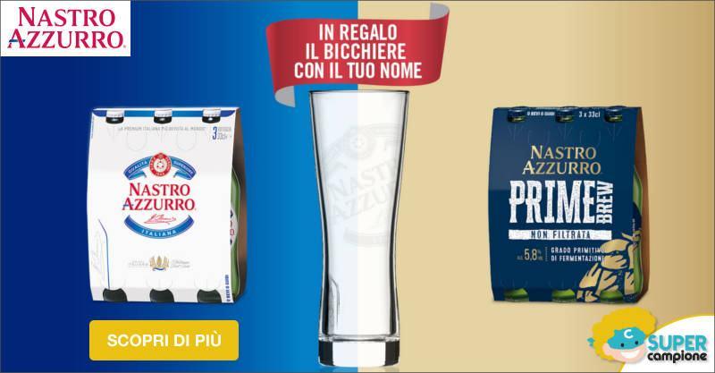 Nastro Azzurro: premio sicuro bicchiere personalizzato