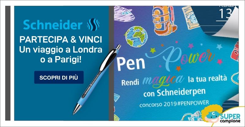 Vinci un viaggio a Parigi o a Londra con Schneider