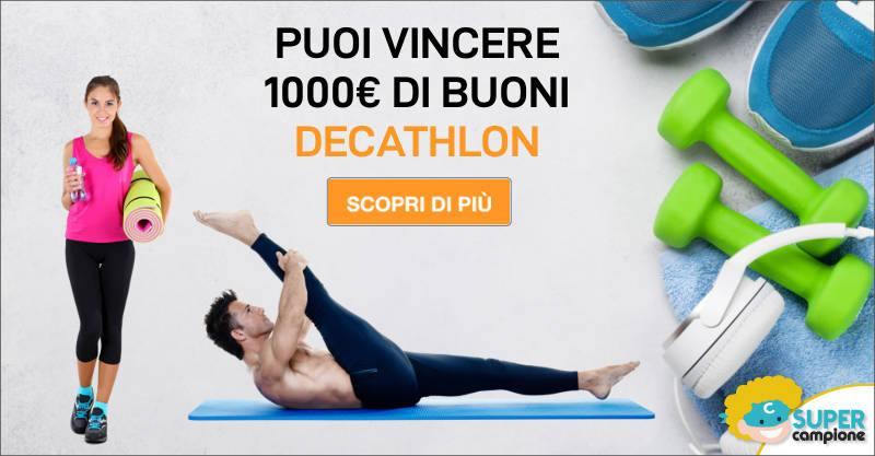Vinci gratis 1000€ di buoni Decathlon