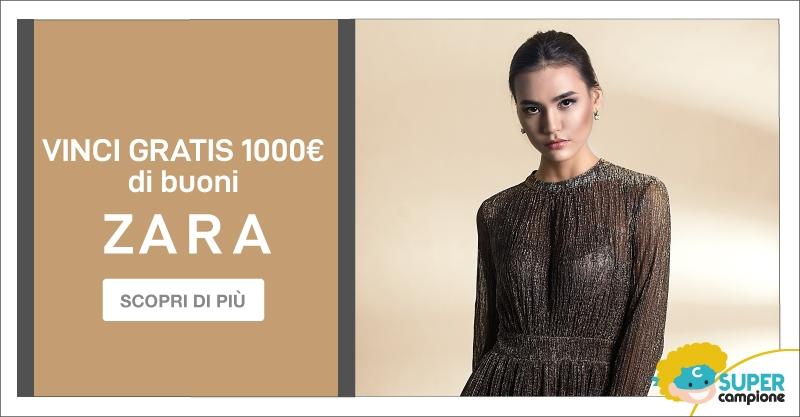 Vinci gratis 1000€ di buoni Zara