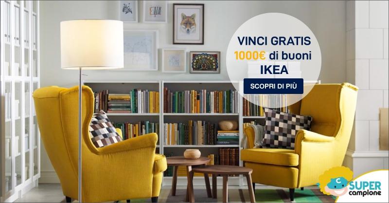 Vinci gratis 1000€ di buoni IKEA