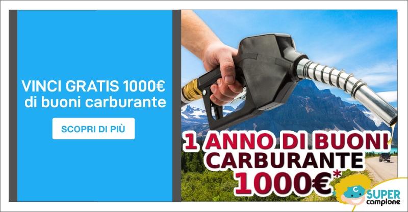Vinci gratis 1000€ di buoni carburante