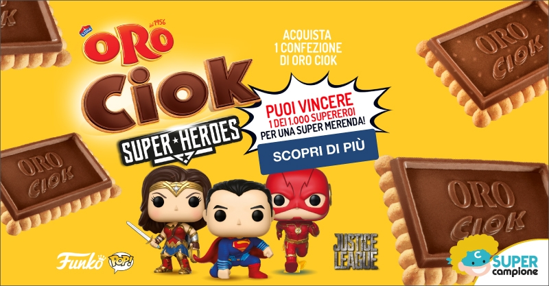 Vinci un Funko Pop Justice League con Oro Ciok