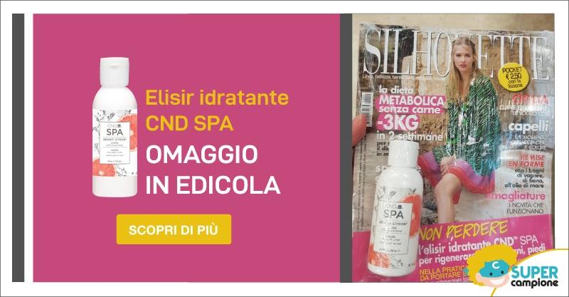 Omaggio gratis elisir idratante CND con Silhouette Donna Pocket