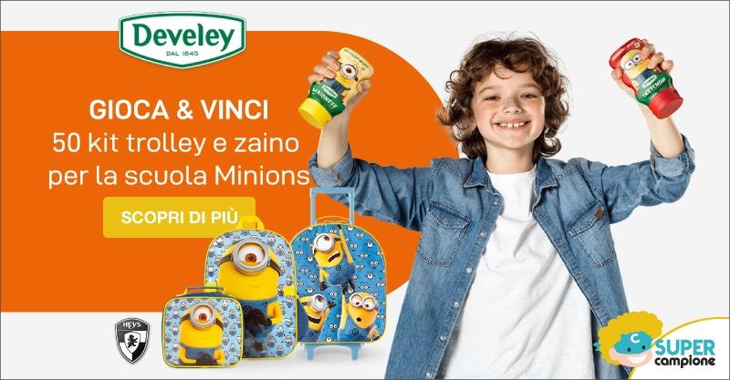 Vinci kit trolley e zaino Minions per la scuola