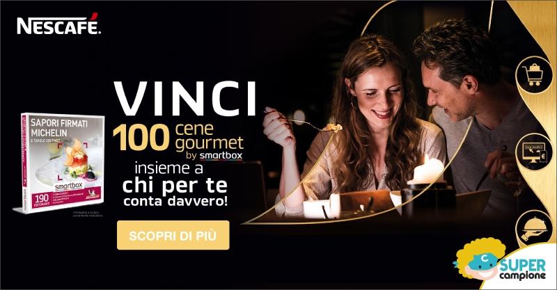 Vinci 100 cene gourmet Smartbox con Nescafè