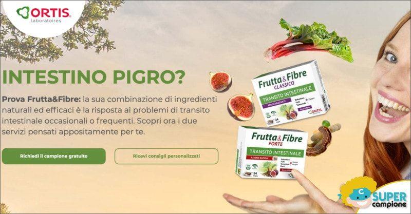 Campioni omaggio integratore Frutta & Fibre