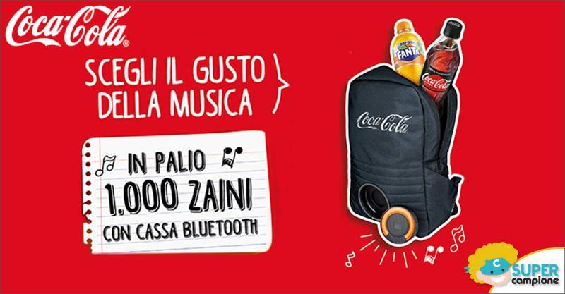 Coca-Cola: vinci 1000 zaini con cassa bluetooth