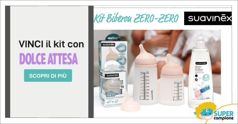 Vinci gratis Kit Biberon Suavinex con Dolce Attesa