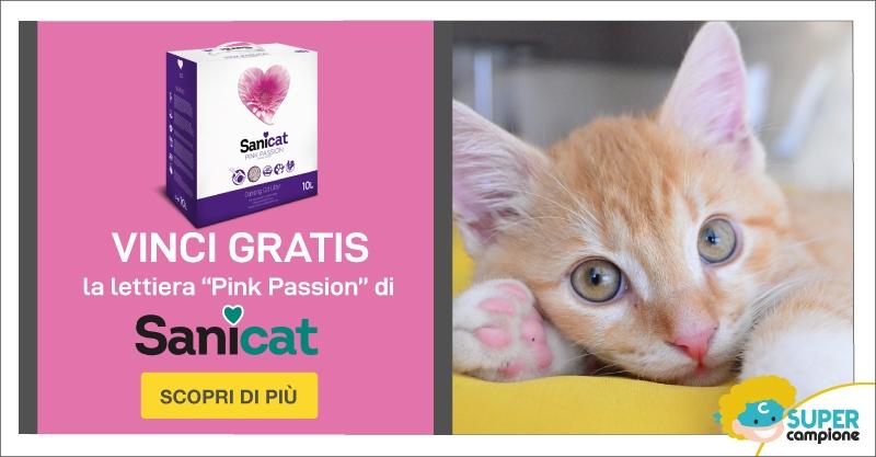 Vinci gratis la lettiera Sanicat Pink Passion
