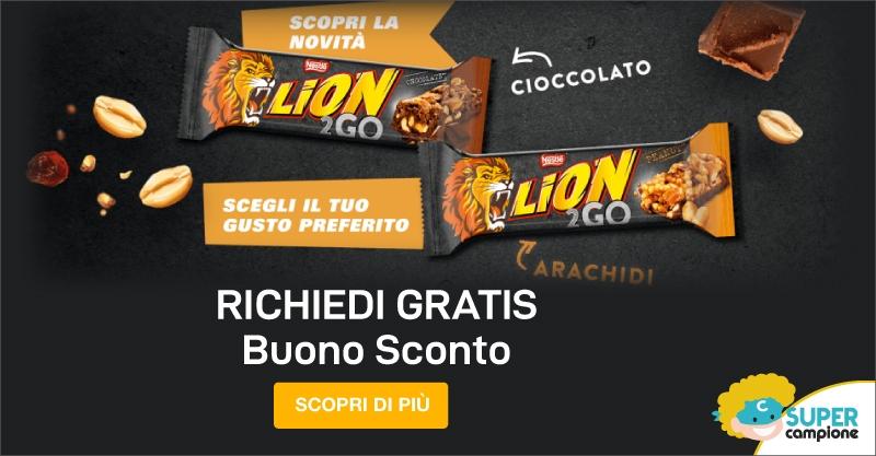 Buono sconto Lion 2Go Bar di Nestlé
