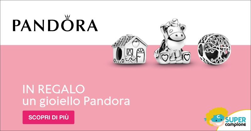 Vinci gratis 1 gioiello Pandora!