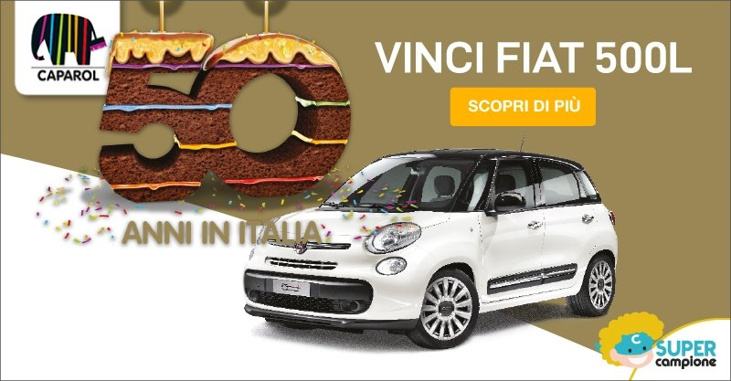 Vinci Fiat 500 L e tanti altri premi con Caparol