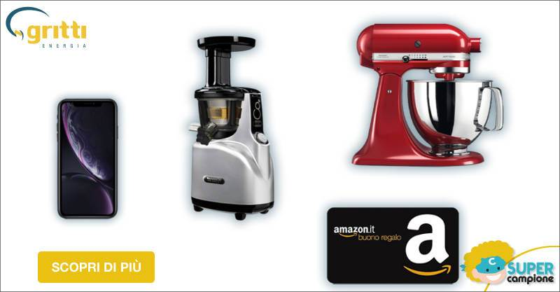 Vinci gratis iPhone XR, Kitchen Aid, estrattore, buoni Amazon