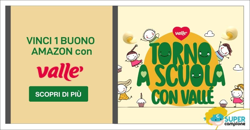 Vinci 1 Buono Amazon da 100€ con Vallè