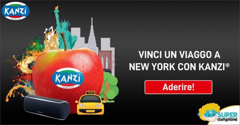 Kanzi Apple: vinci viaggio a New York e altoparlanti Sony