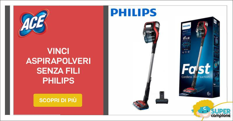 Ace: vinci aspirapolvere senza fili Philips