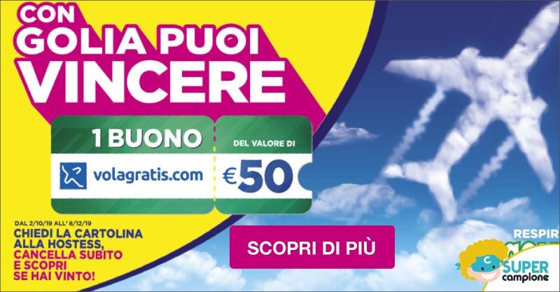 Vinci gratis 1 buono da 50€ Volagratis