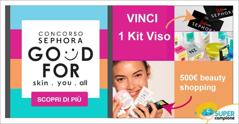 Vinci 1 kit Skincare Sephora e tanti altri premi!