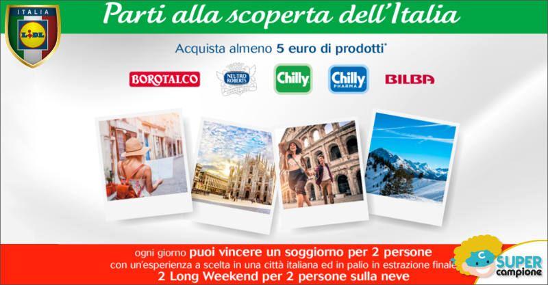 LIDL: vinci un soggiorno in Italia 2 persone