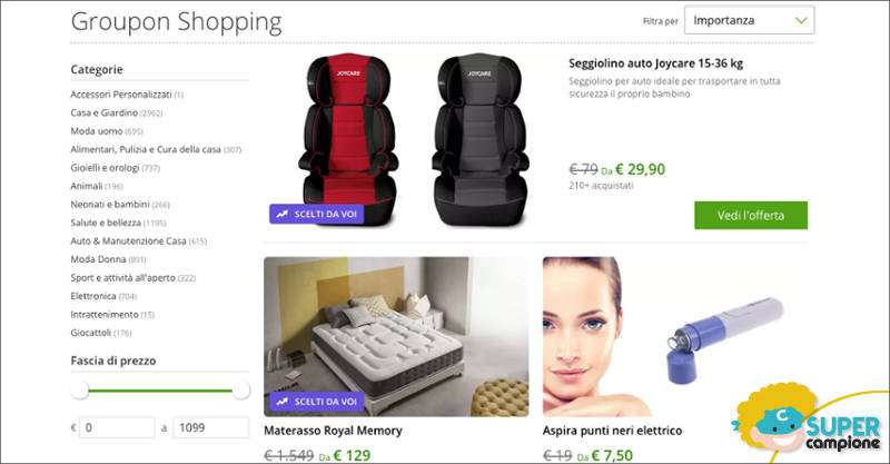 Groupon shopping: nuove offerte ogni giorno