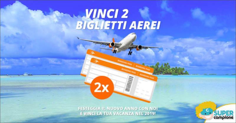 Vinci gratis 2 biglietti aerei